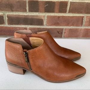 Lucky Brand Koben brown leather ankle boots